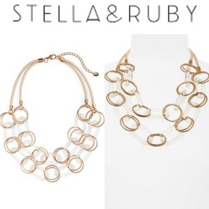 STELLA + RUBY MULTISTRAND STATEMENT NECKLACE